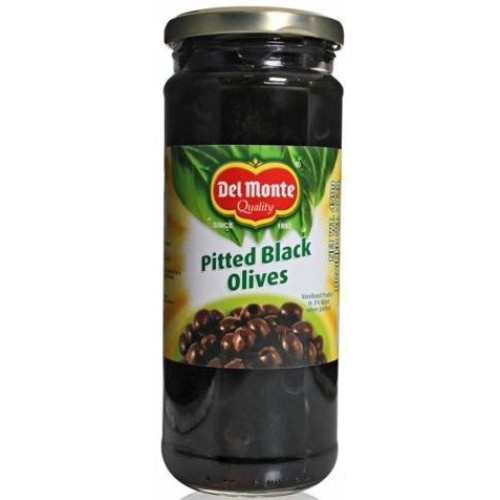 Delmonte Black Pitted Olives 450 gm