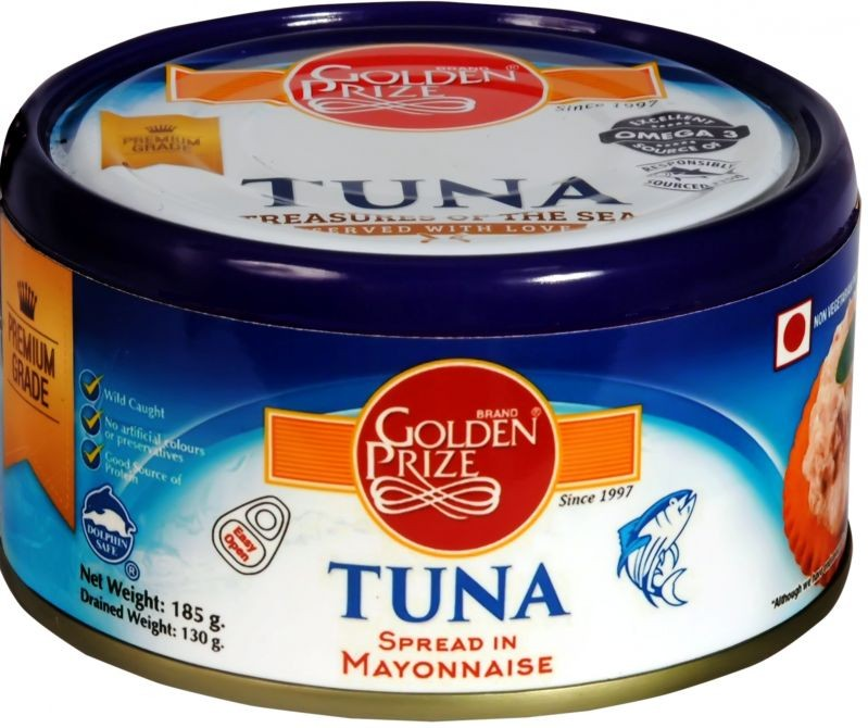 Golden Prize Canned Tuna Chunks in Tomato Sauce 185 gm